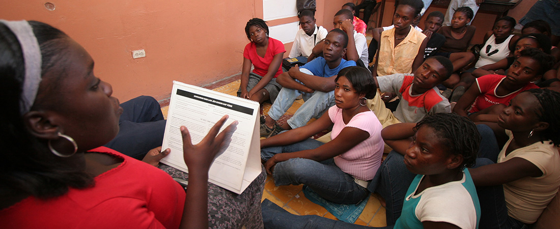 Participants in EDC's project in Haiti
