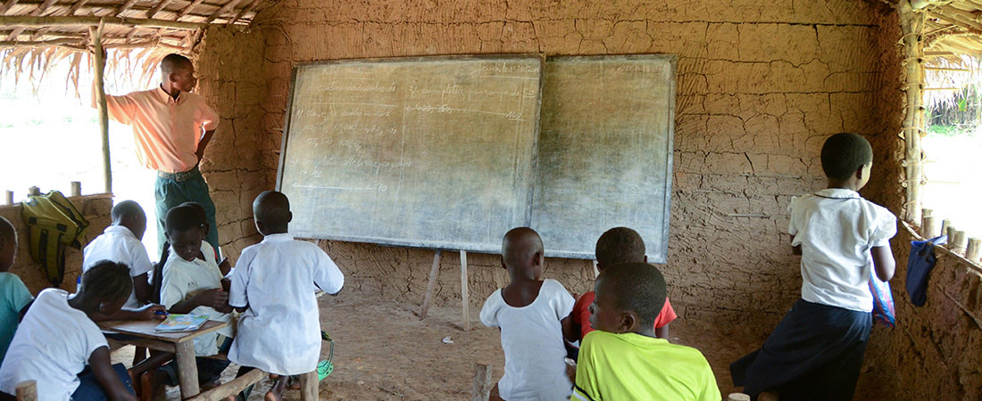 A classroom in the DRC.