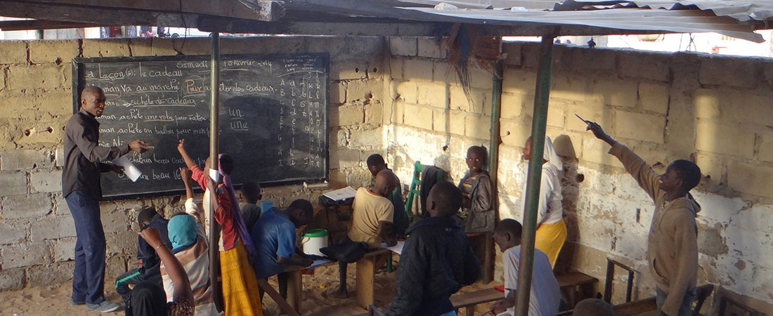 An outdoor classroom in Senegal