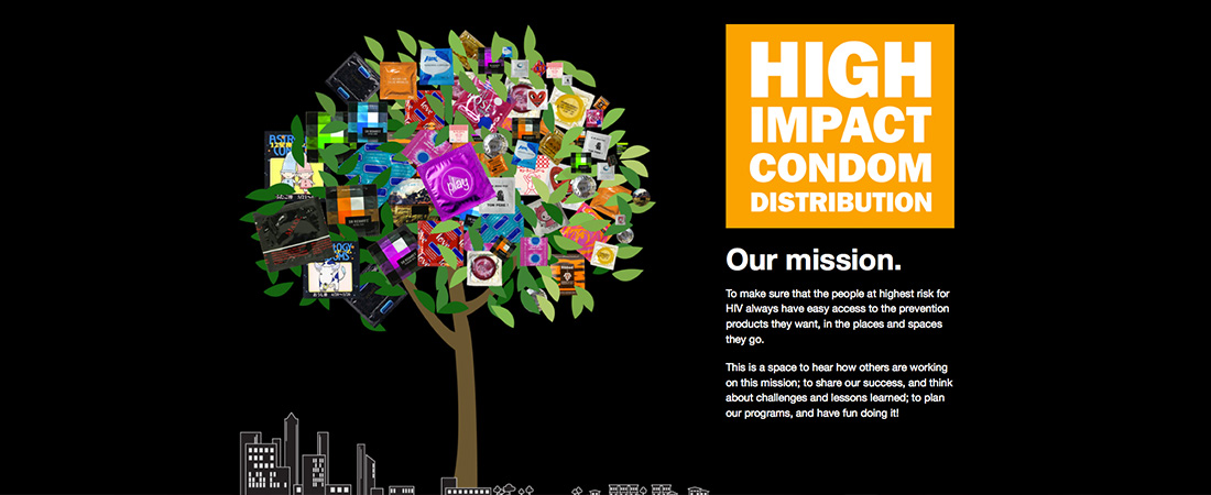 High Impact Condom Distribution website graphic