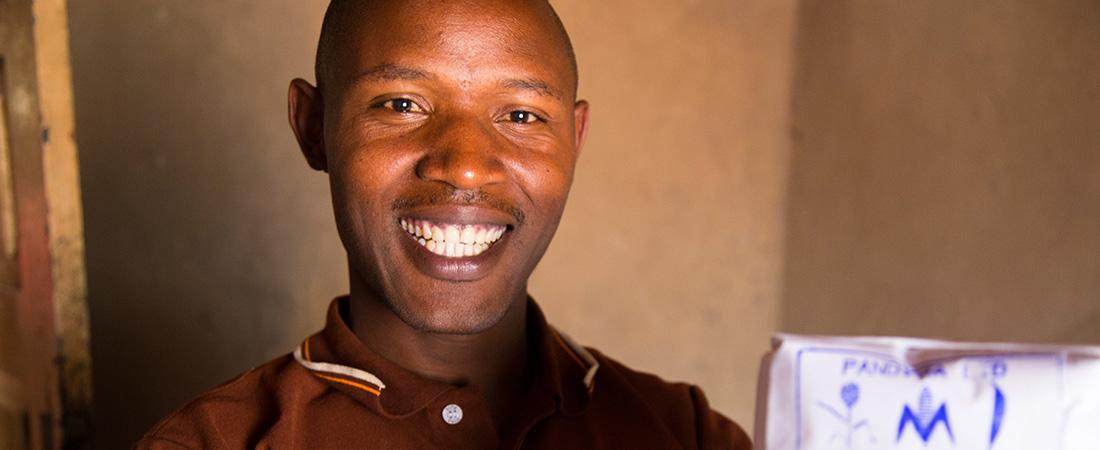 Jean Bosco Bizimana is a graduate of the Akazi Kanoze program in Rwanda.