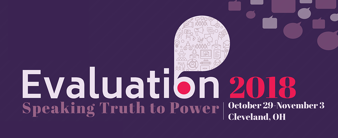 American Evaluation Association (AEA) annual conference banner