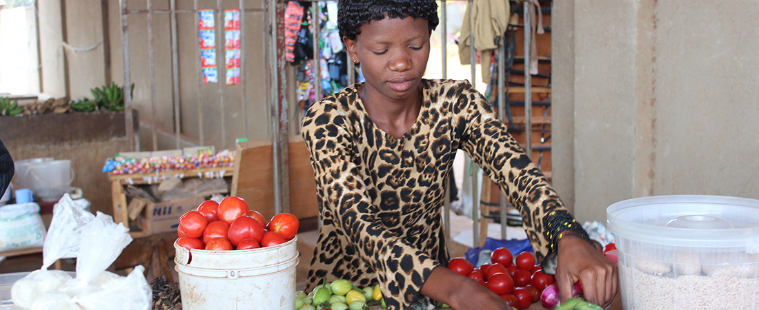 A participant in the Akazi Kanoze Youth Livelihoods Project