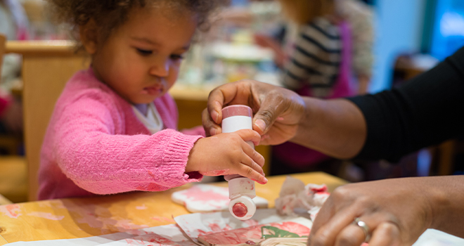 An image of a child representing Strengthening Early Childhood Interventions with Continuous Quality Improvement