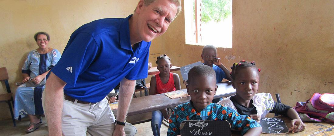 A photo of David Offensend in Mali