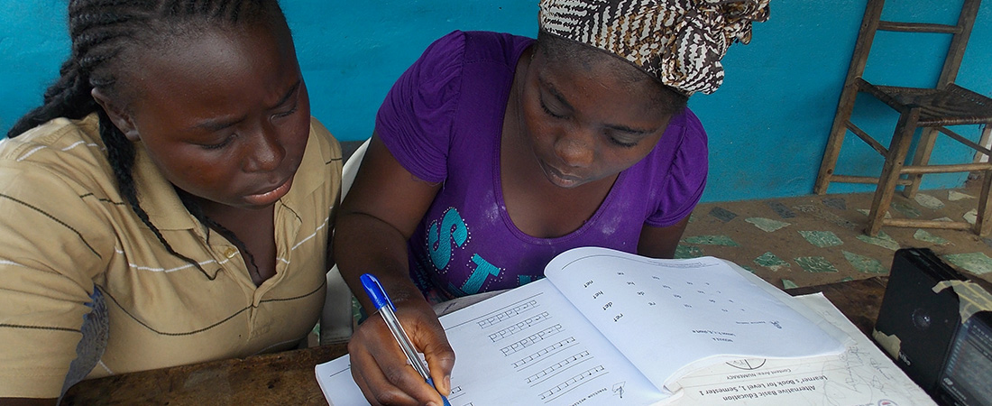 A photo of learners in Liberia