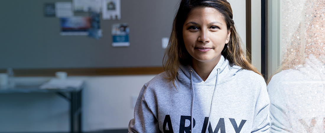 A photo of a woman veteran representing Making Space for Women Veterans