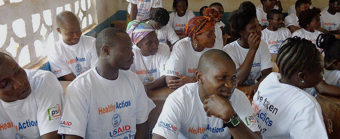 Participants in an EDC program at a training on sexual and reproductive health.