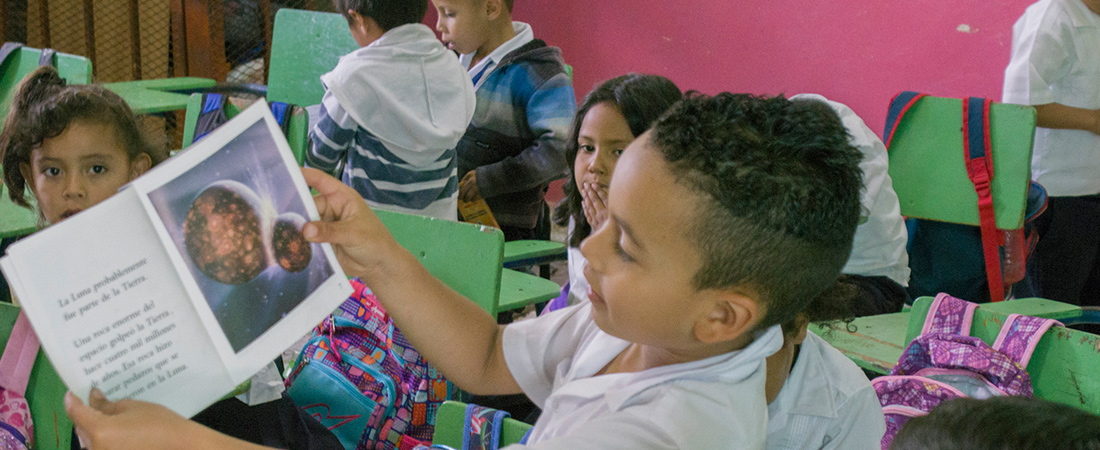 A photo of a student in Honduras