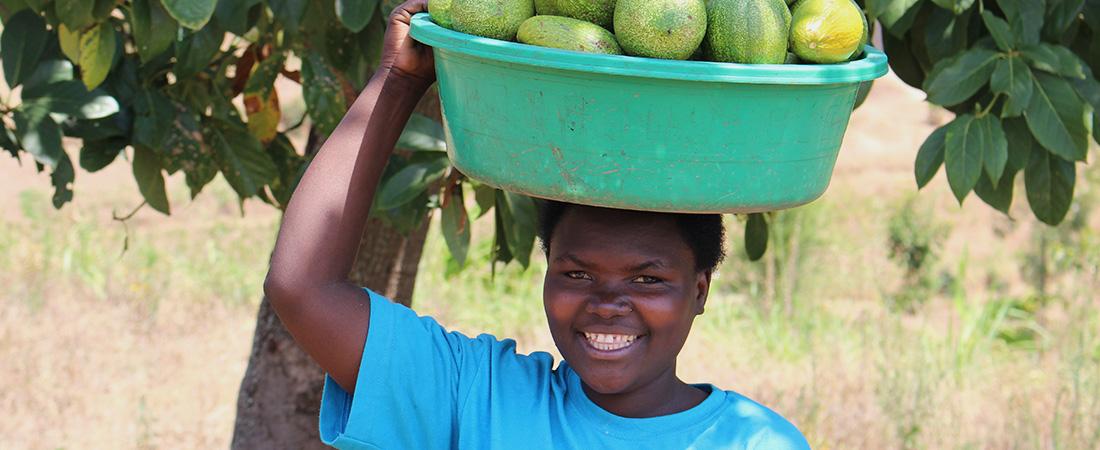 A photo of a youth in Rwanda