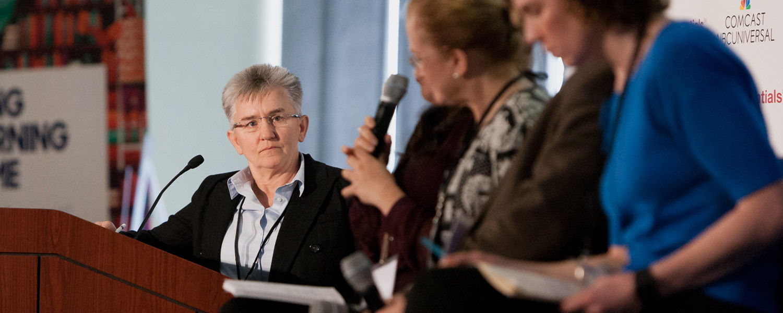 EDC's Pam Buffington (left) explores improving STEM access for rural schools.