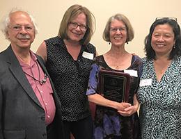 A photo of Hall of Fame for Mathematics Educators award ceremony