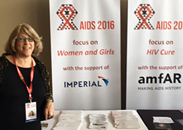 EDC's Ronnie Lovich at the 2016 International AIDS Conference in Durban, South Africa.