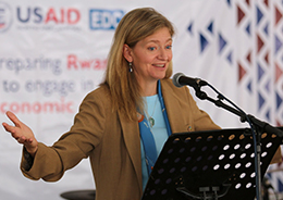 Photo of U.S. Ambassador Erica Barks-Ruggles