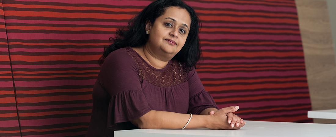 A photo of EDC's Sarita Pillai