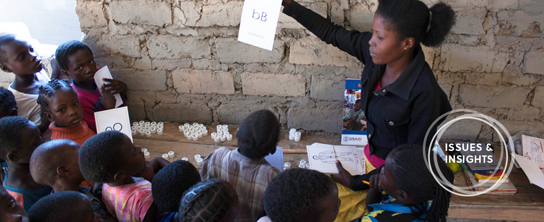 A photo of a classroom in Zambia