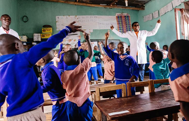 A photo of a classroom