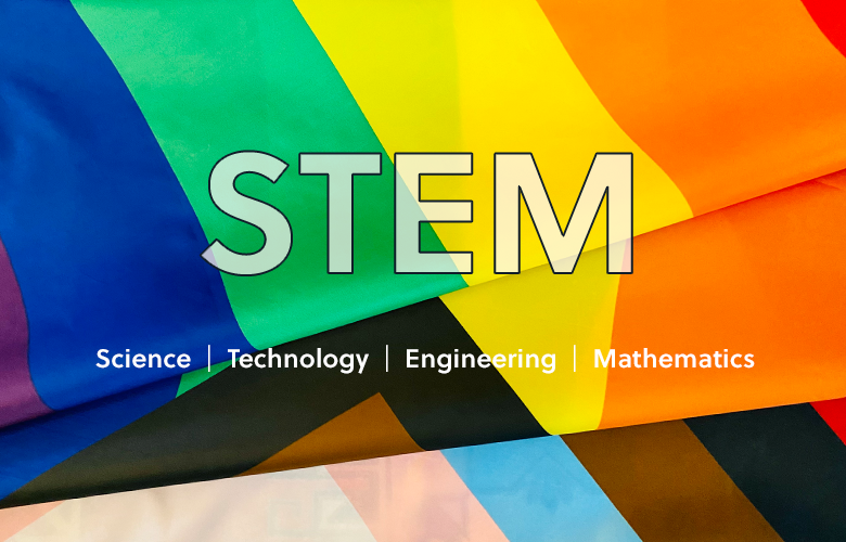 An illustration representing June—A Time for PRIDE and STEM