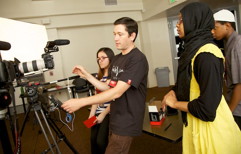 An image of youth representing Media Literacy through Media Making