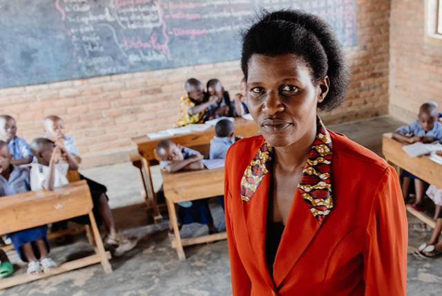 An image of a teacher representing gender equity