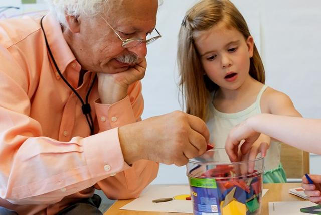"""""""Playing math games with children can help spark important mathematical ideas,"""" says Paul Goldenberg."""