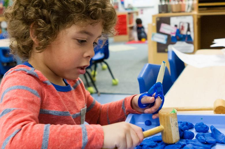 A photo of a preschooler