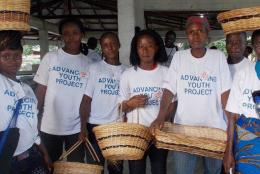 Participants of USAID's Advancing Youth Project in Liberia.
