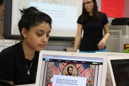 Social studies students use Zoom In to investigate and write about history.