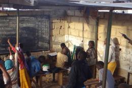 An outdoor classroom in Senegal