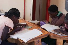Students in a Zambian classroom.