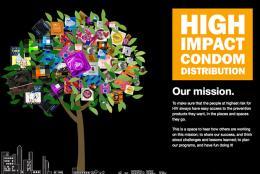 High Impact Condom Distribution website graphic