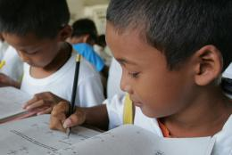 Students reading in the Philippines