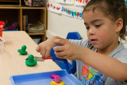 A photo of a child representing EDC Selected to Study Low-Income Parents' Access to Child Care