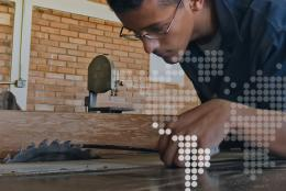 A young man in Honduras gets job training
