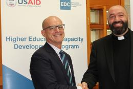 A photo of EDC's Bill Potter at MOU signing