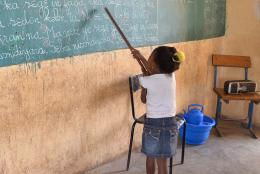 A classroom photo from EDC's USAID-funded Selective Integrated Reading Activity (SIRA)